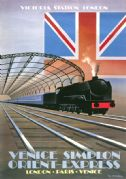 Venice Simplon Orient Express, Victoria Station London. VSOE Vintage Travel Poster. 1981